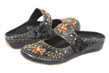 JOHN FASHION Embroidery Beads Sandal with Velcro Closure