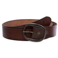 OnlineBelts Casual Leather Jean Belt with Oval Buckle