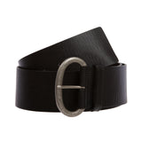 Ladies Plain Contour Wide Belt with Engraving Detailing Buckle