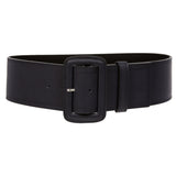 "Women's 3"" Wide High Waist Fashion Stitch Rectangular Leather Belt"