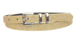 "Ladies 5/8"" Glitter Dress Skinny Belt"