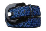 "Women""s 1 7/8"" Wide High Waist Patent Leather Faux Leopard Fur Belt"