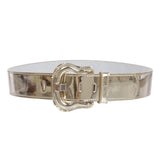 Women's Western High Waist Wide Patent Fashion Plain Leather Belt