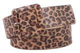"1 7/8"" Wide Ladies Leopard Print Fashion Belt"