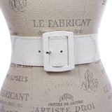 "Women's 2 1/2"" (64 mm) Wide Elastic High Waist Leather Stretch Belt"