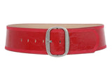 "Women's 3"" (75 mm) Wide Oval Tone-on-tone Stitching Edged Contour Belt"
