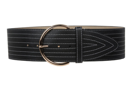 75mm Fashion Stitching Leather Belt