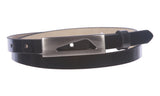 "1/2"" (14 mm)Womens Snap On Skinny Patent Leatherette Belt"