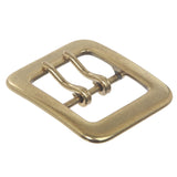 "1 1/2"" (40 mm) Rectangular Center Bar Double Prong Belt Buckle"