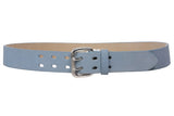"1 1/2"" Women's Plain Soft Suede Leather Double Prong Dress Belt"