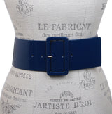 Women's High Waist Wide Patent fashion Square Belt