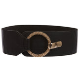 "Women's 3"" (75 mm) Wide High Waist Fashion Stretch Belt"