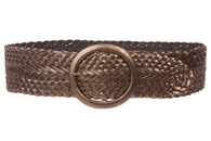 3 Inch Wide Genuine Leather Braided Woven Belt