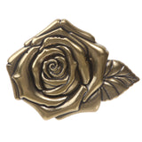 "1 1/2"" (38 mm) Snap on Embossed Roses Leather Belt"