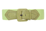 Ladies High Waist Fashion Stretch Belt with Tab Detailing
