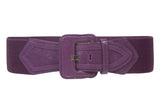 Women's High Waist Fashion Stretch Belt with Tab Detailing