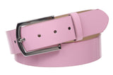 "1 1/2"" (38 mm) Snap On Nickel Free Faux Synthetic Patent Leather Fashion Plain Belt"