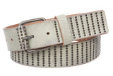 "1 1/2"" (38 mm) Cowhide Multi Metal Circle Studded Vintage Leather Belt"