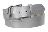 "1 1/2"" (38mm) Square Nickel Free Snap On Plain Non-Leather Jean Belt"
