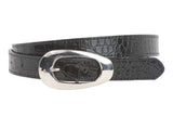 "Ladies 7/8"" Faux Patent Croco Print Non Leather  Belt"