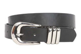 Ladies 1 1/8 Inch Plain Non Leather Belt