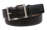 "Men's 1 1/4"" (34 mm) Stitching Feather Edged Plain Leather Dress Belt"