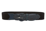 "Ladies 1 3/4"" Braided Elastic Stretch Round Belt"