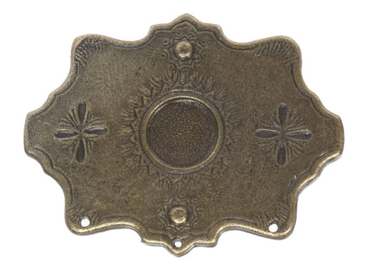 Western Snow Flakes Antique Belt Buckle
