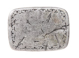 Western Rectangular Hammered Engraving Antique Belt Buckle