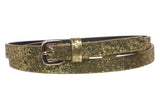 "Women's 5/8"" Skinny Glitter Non Leather Dress Belt"