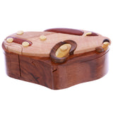 Handcrafted Wooden Sports Car Shape Cool Secret Jewelry Puzzle Box - Car