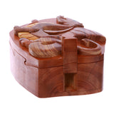 Tyrannosaurus-Rex With Wings Handcrafted Wooden Dinosaur Secret Jewelry Puzzle Box - Lovely Tyrannosaurus
