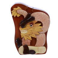Dragon Handcrafted Wooden Animal Shape Secret Jewelry Puzzle Box - Dragon