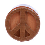 Handcrafted Wooden Peace Sign Shape Secret Jewelry Puzzle Box -Peace Sign