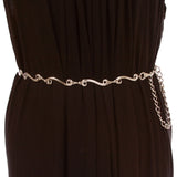 Women's Skinny Fashion Metal Chain Belt