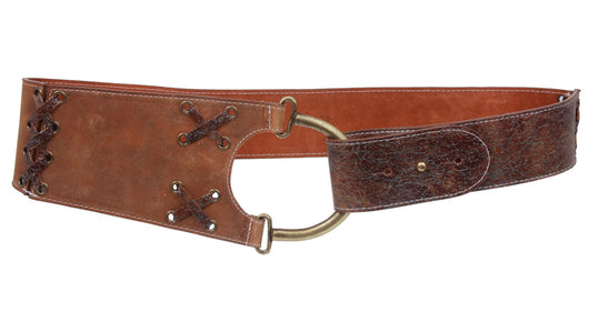 LEATHEROCK High Waist Leather Belt