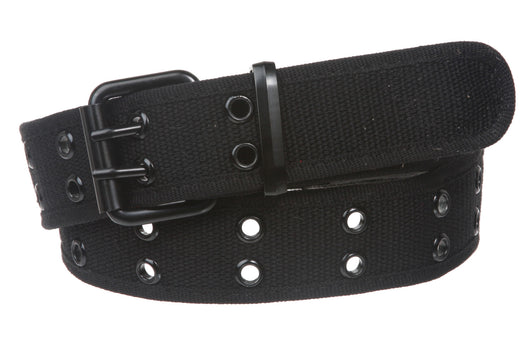 Big Tall Double Hole Grommets Canvas Web Belt Extra Large Plus Size