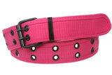 Double Hole Grommets Canvas Web Belt