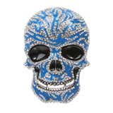 Rhinestone Enameled Skull Belt Buckle