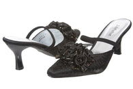 JOHN FASHION Silken Embroidery Beads Rose Floral Sandal