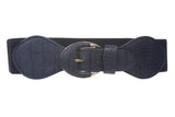 "2 1/4"" Wide High Waist Croco Fashion Stretch Belt"