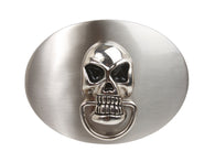 Big Oval Skull Knock-at-Door Belt Buckle