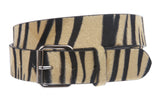 "1 1/2"" Snap On Zebra Print Belt"