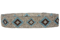 Diamond Pattern Southwest Beaded Stretch Belt