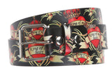 Snap On King of my Heart Crowns & Hearts Printed Fashion Belt