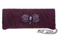 Silken Rhinestone Evening Bag