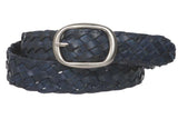 "1 1/4"" Women's Braided Woven Leather Belt"