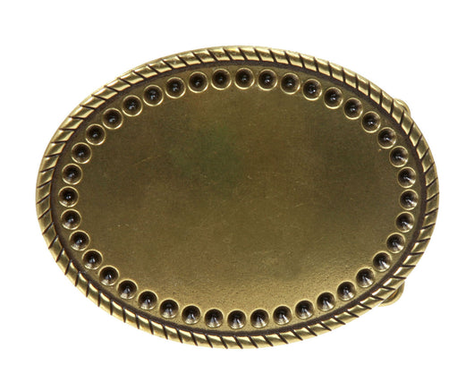 Oval Rope Engraved belt buckle