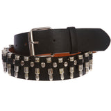 Snap On Imitation Bullets Leather Belt