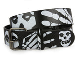 Snap On Skull Tattoo Ink Artwork Leather Belt